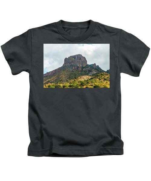 Emory Peak Chisos Mountains Kids T-Shirt
