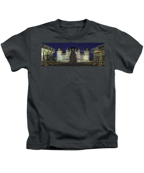 Empire State Plaza Holiday Kids T-Shirt