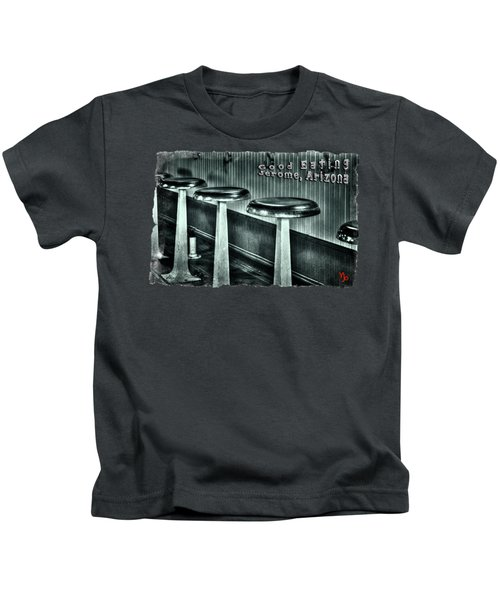 Empty Counter Stools Jerome Arizona Kids T-Shirt