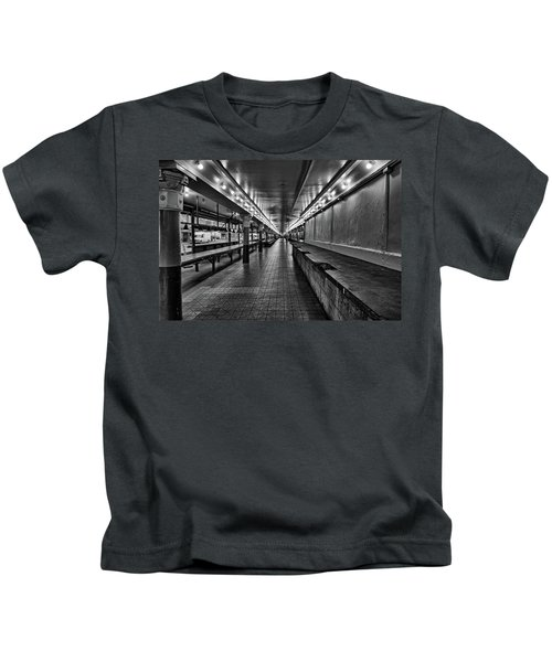 Empty Pike Place Market In Seattle Kids T-Shirt