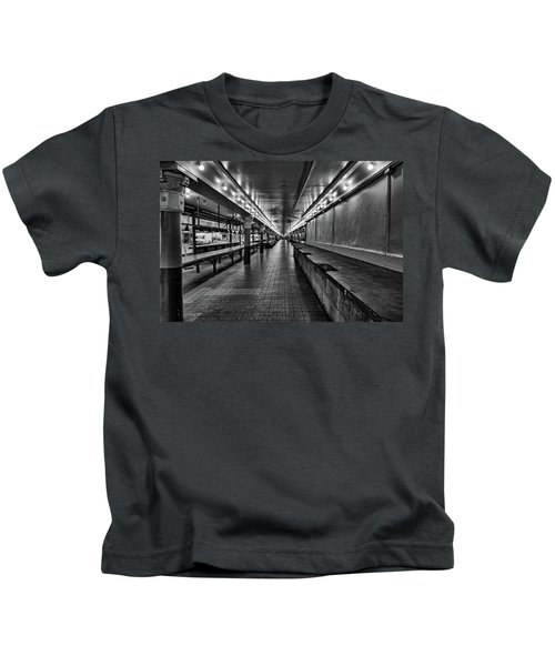 Empty Pike Place Market In Seattle Kids T-Shirt