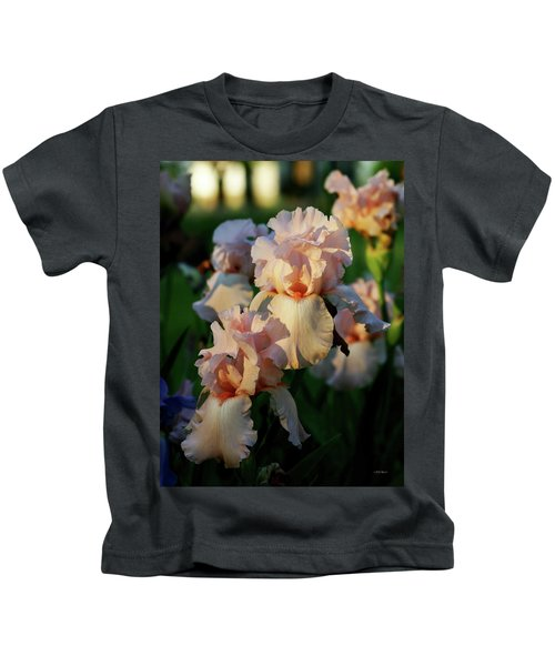 End Of Day Pink Irises 6702 H_2 Kids T-Shirt
