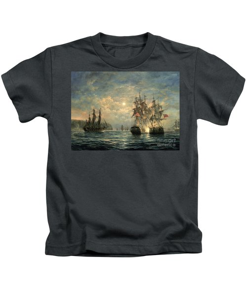 Engagement Between The 'bonhomme Richard' And The ' Serapis' Off Flamborough Head Kids T-Shirt