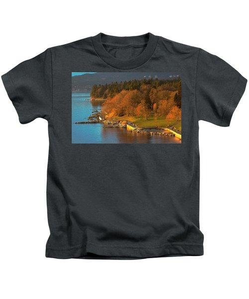 English Bay At Golden Hr. Kids T-Shirt