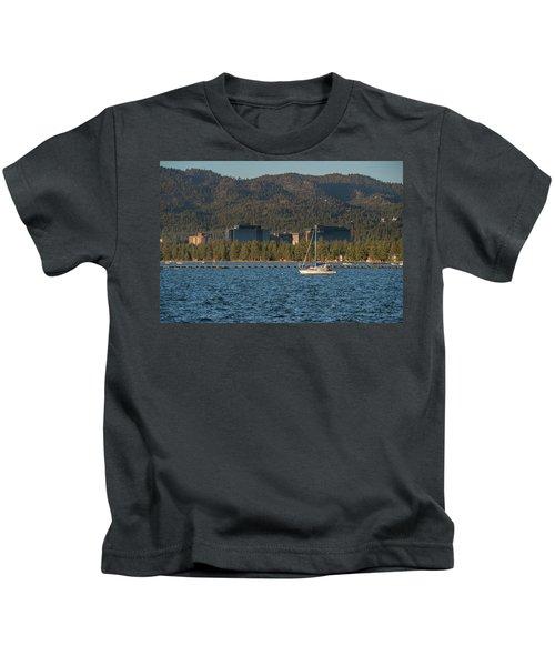Enjoying The Lake Kids T-Shirt