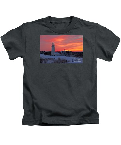 Epic Sunset At Highland Light Kids T-Shirt
