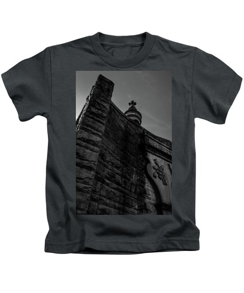 Eternal Stone Structure Bw Kids T-Shirt