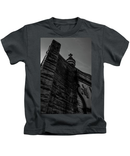Eternal Stone Structure Bw Kids T-Shirt
