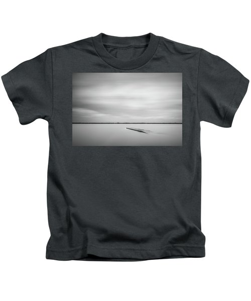 Ethereal Long Exposure Of A Pier In The Lake Kids T-Shirt