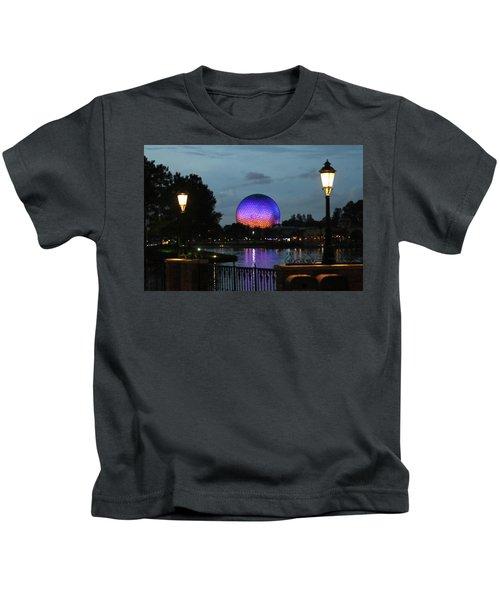 Evening At Epcot Kids T-Shirt