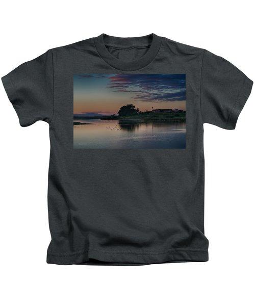 Evening At Moss Landing Kids T-Shirt