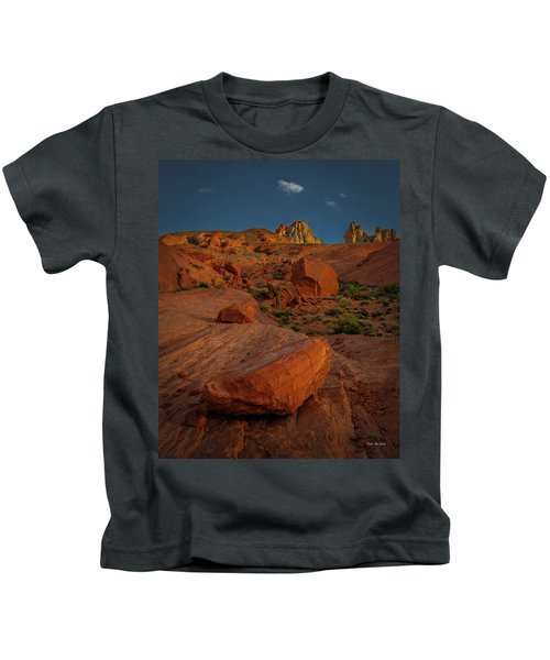 Evening In The Valley Of Fire Kids T-Shirt