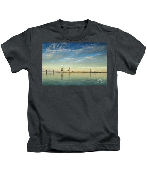 Evening Lights On The Bay Cadiz Spain Kids T-Shirt