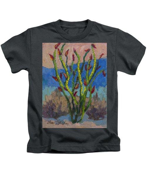 Evening Ocotillo Kids T-Shirt