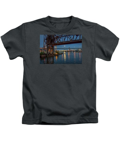Evening On The Cuyahoga River Kids T-Shirt