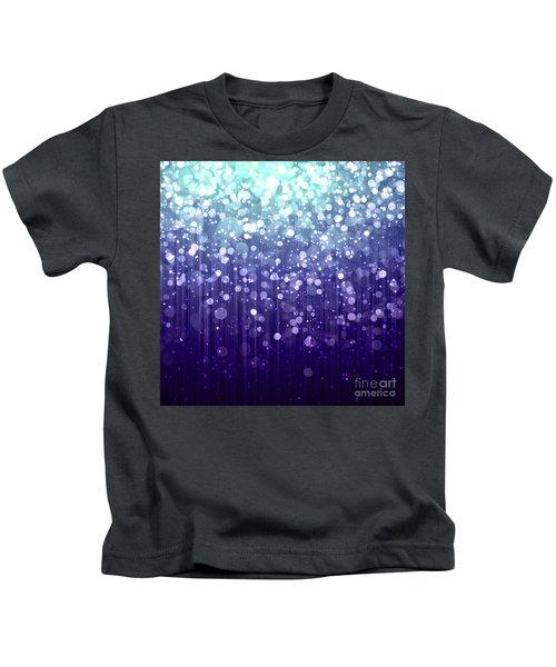 Evening Sparkle Abstract Sparkle Art Kids T-Shirt