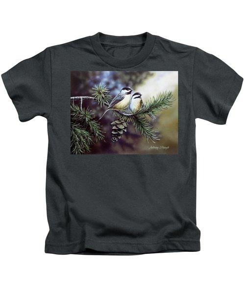 Evergreen Chickadees Kids T-Shirt