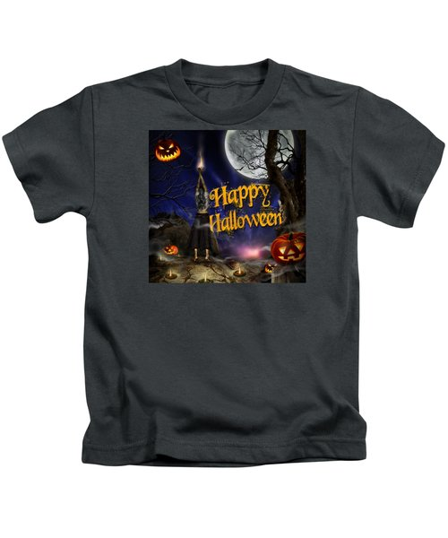 Evocation In Halloween Night Greeting Card Kids T-Shirt