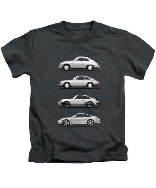 Evolution Of The 911 Kids T-Shirt