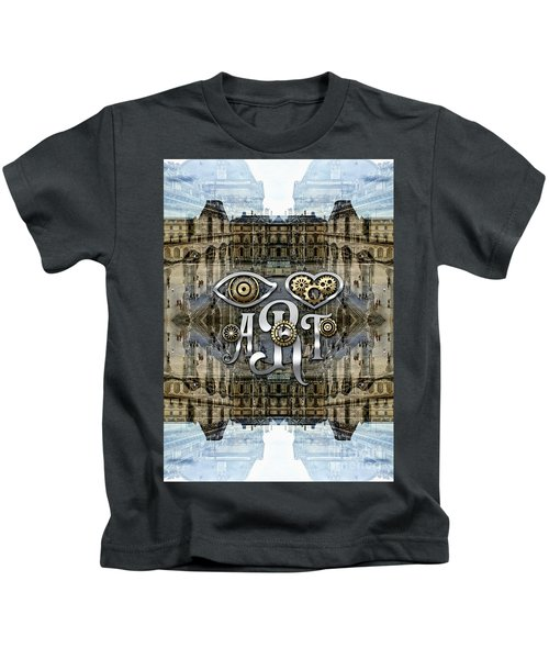 Eye Heart Art Louvre Silver Paris Da Vinci Gears Kids T-Shirt