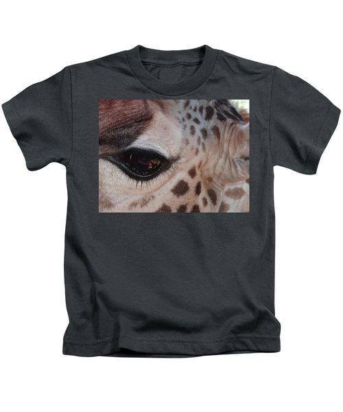 Eye Of A Giraffe Kids T-Shirt