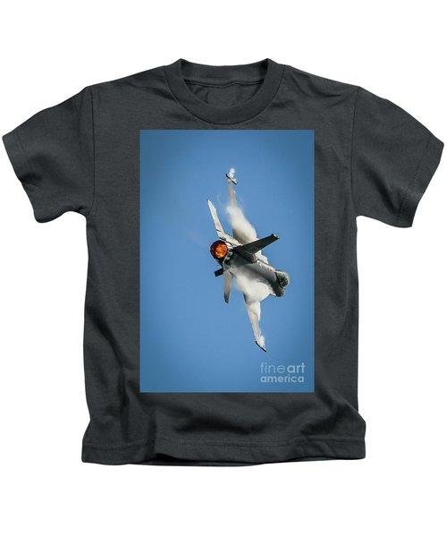 F-16 Banks Right Kids T-Shirt