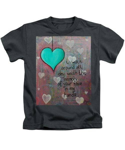 Face In My Hands Kids T-Shirt