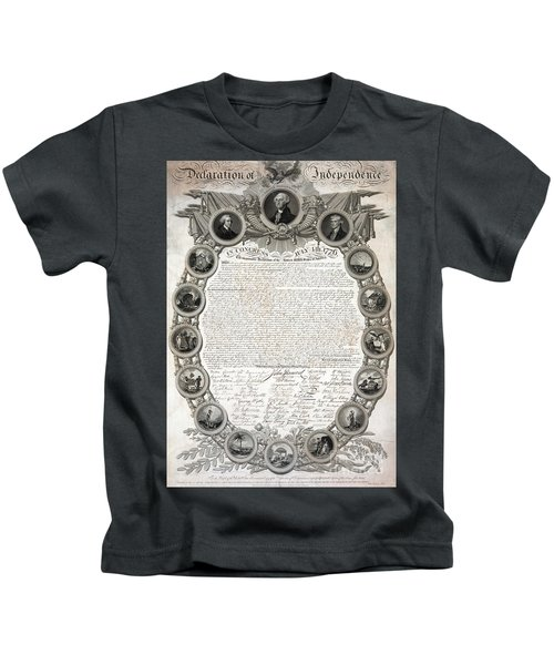 Facsimile Of The Original Draft Of The Declaration Of Independence 1776 Kids T-Shirt