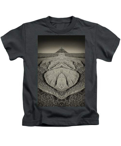 Factory Butte Digital Art Kids T-Shirt