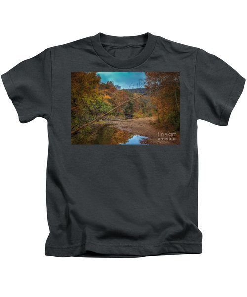 Fall At Barkers Gap Kids T-Shirt