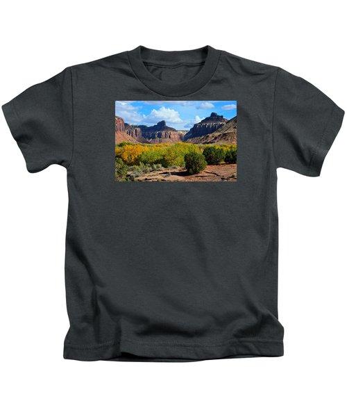 Fall At Indian Creek Kids T-Shirt