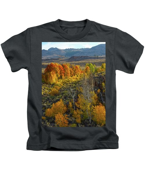 Fall Colors At Aspen Canyon Kids T-Shirt