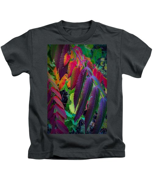 Fall Feathers Kids T-Shirt