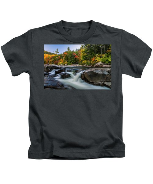 Fall Foliage Along Swift River In White Mountains New Hampshire  Kids T-Shirt