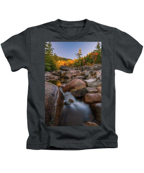Fall Foliage In New Hampshire Swift River Kids T-Shirt