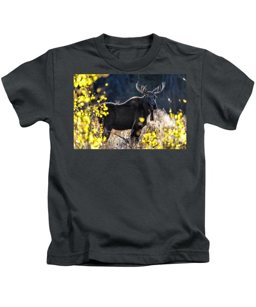Fall Moose Kids T-Shirt