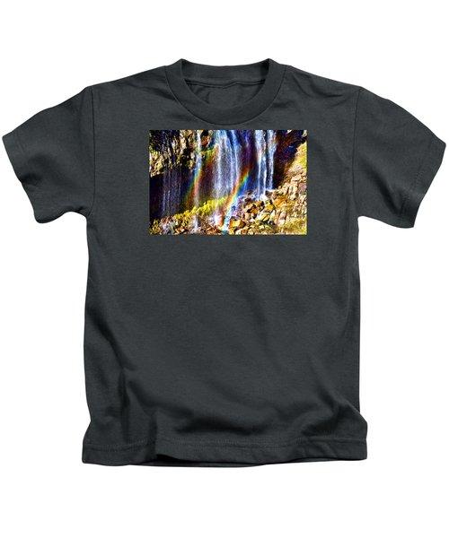 Falling Rainbows Kids T-Shirt