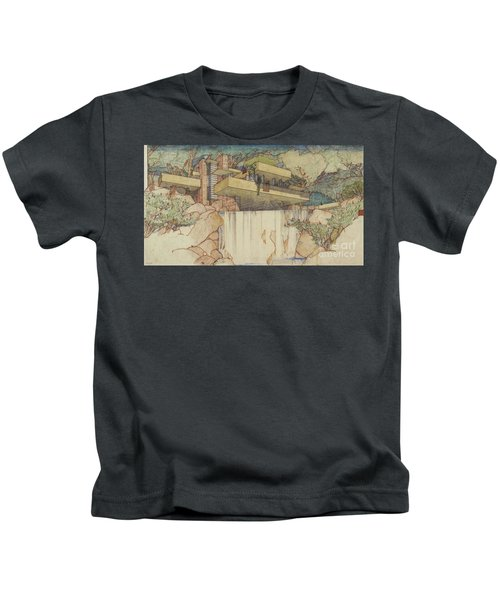 Fallingwater Pen And Ink Kids T-Shirt