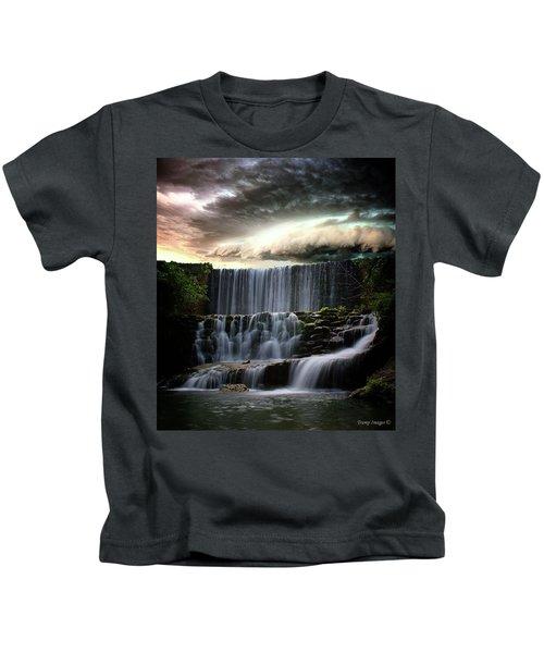 Falls At Mirror Lake Kids T-Shirt