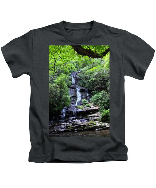 Falls Near Bryson City Kids T-Shirt
