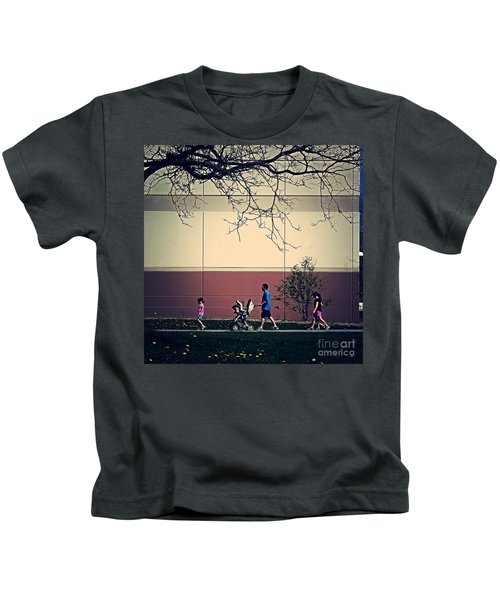 Family Walk To The Park Kids T-Shirt