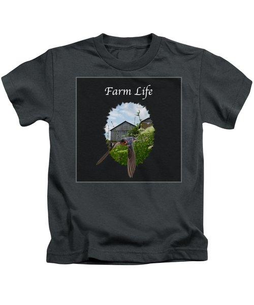 Farm Life Kids T-Shirt by Jan M Holden