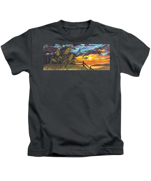 Farm Sunset Kids T-Shirt