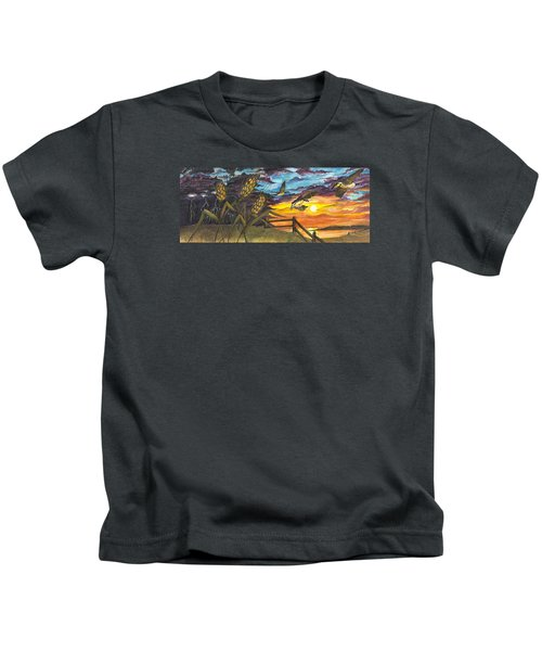 Farm Sunset Kids T-Shirt