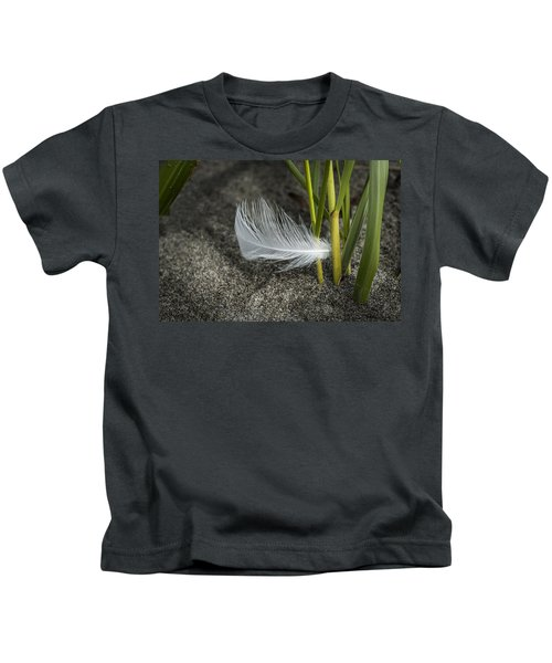 Feather And Beach Grass Kids T-Shirt
