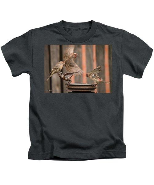 Feeding Finches Kids T-Shirt