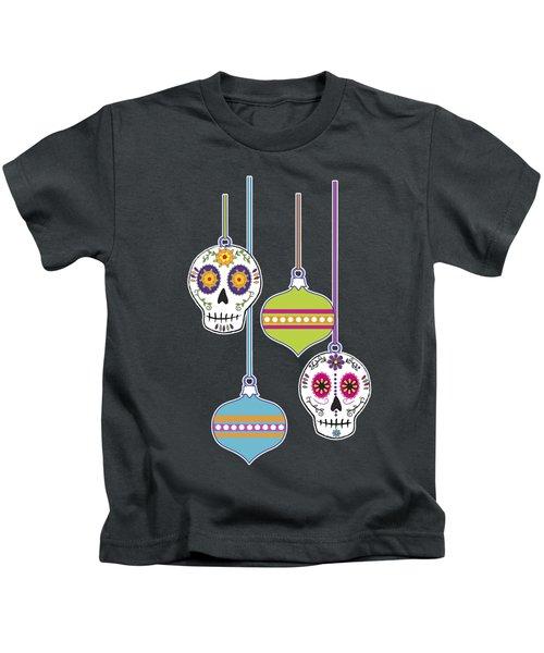 Feliz Navidad Holiday Sugar Skulls Kids T-Shirt
