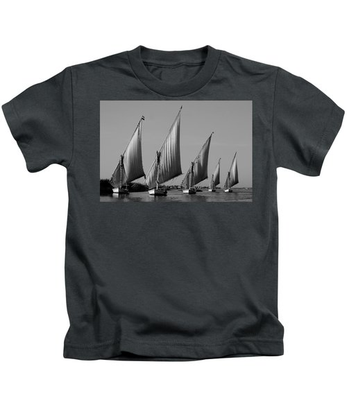 Feluccas On River Nile Kids T-Shirt