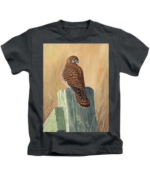 Female Kestrel Study Kids T-Shirt
