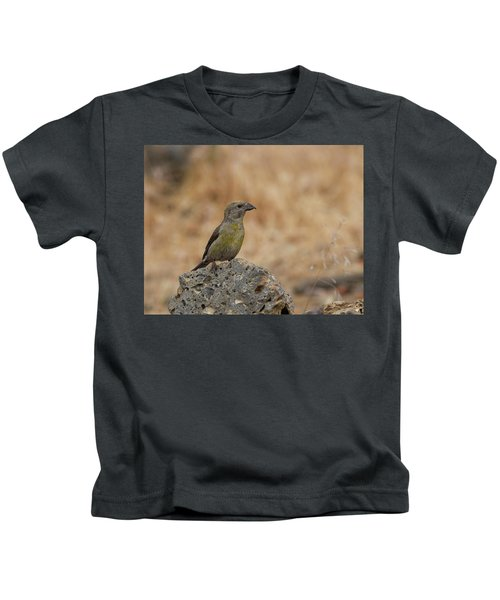 Female Red Crossbill Kids T-Shirt